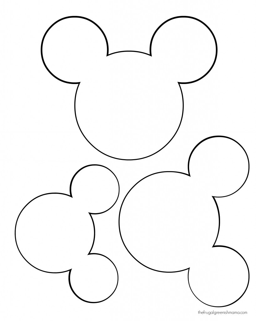 819x1024 Mickey Mouse Ears Template Online Calendar Templates