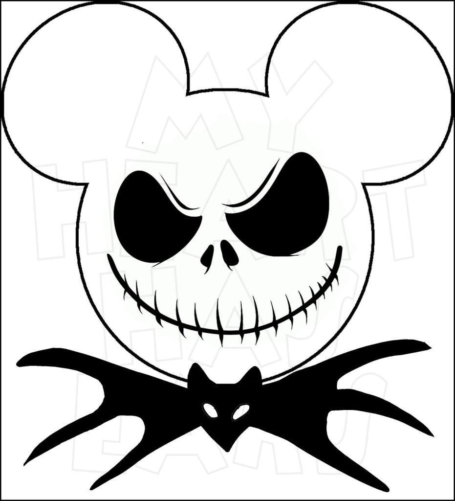 931x1024 Mickey Mouse dressed as Jack Skellington INSTANT DOWNLOAD digital