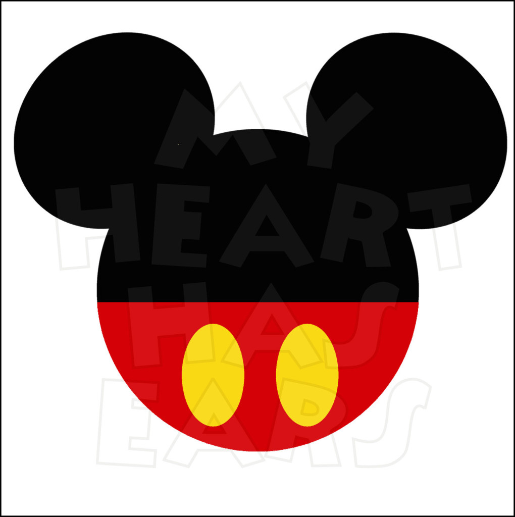 1020x1024 Original Mickey Mouse ears head INSTANT DOWNLOAD digital clip art