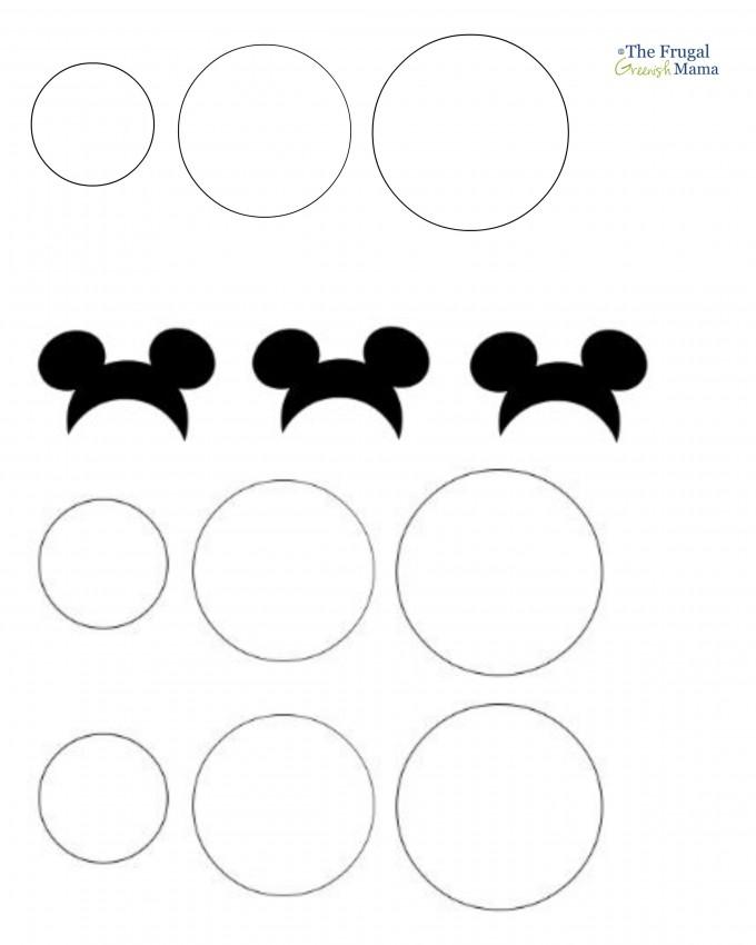 680x850 Mickey Ears Template