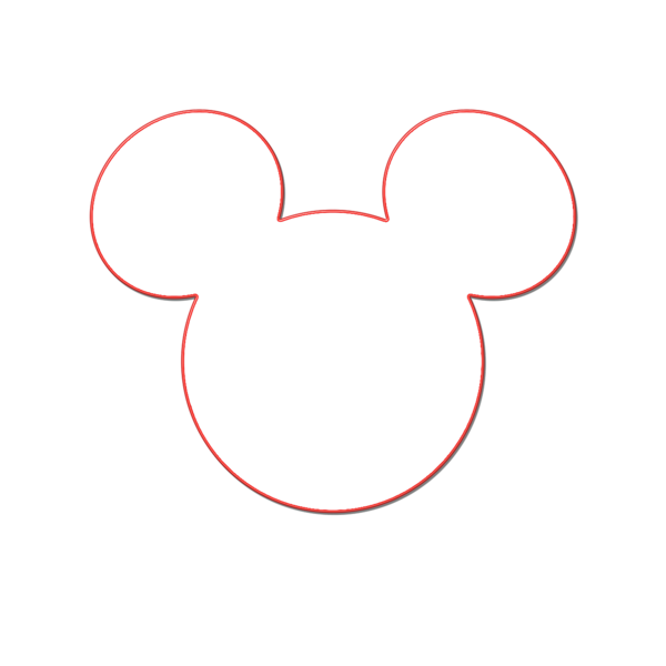 600x600 Mickey Head Outline Free Images