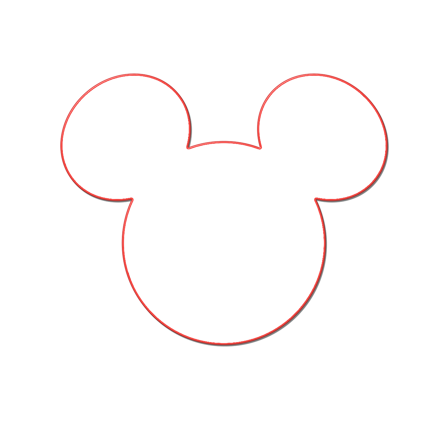 1520x1520 Mickey Mouse Outline Clipart