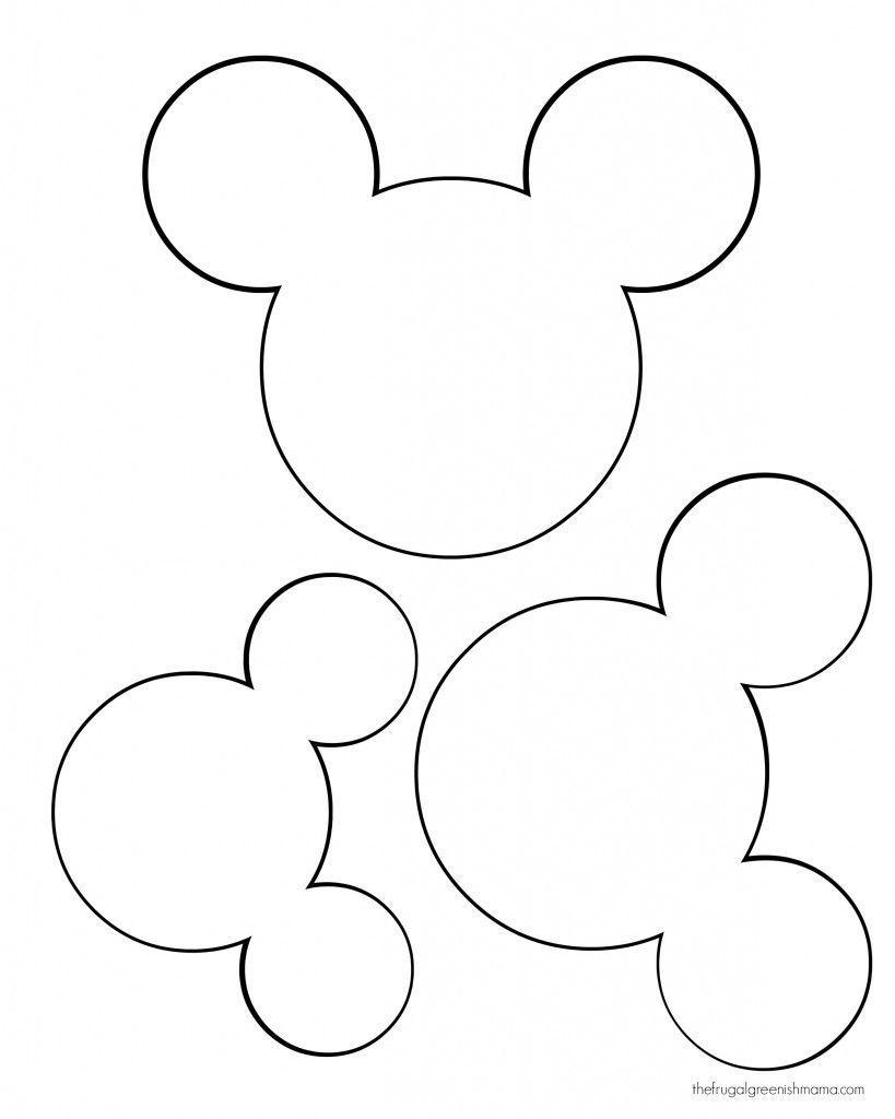 819x1024 Mickey Head Template