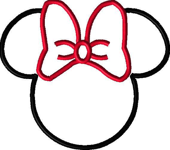 569x505 Minnie Mouse Outline Head