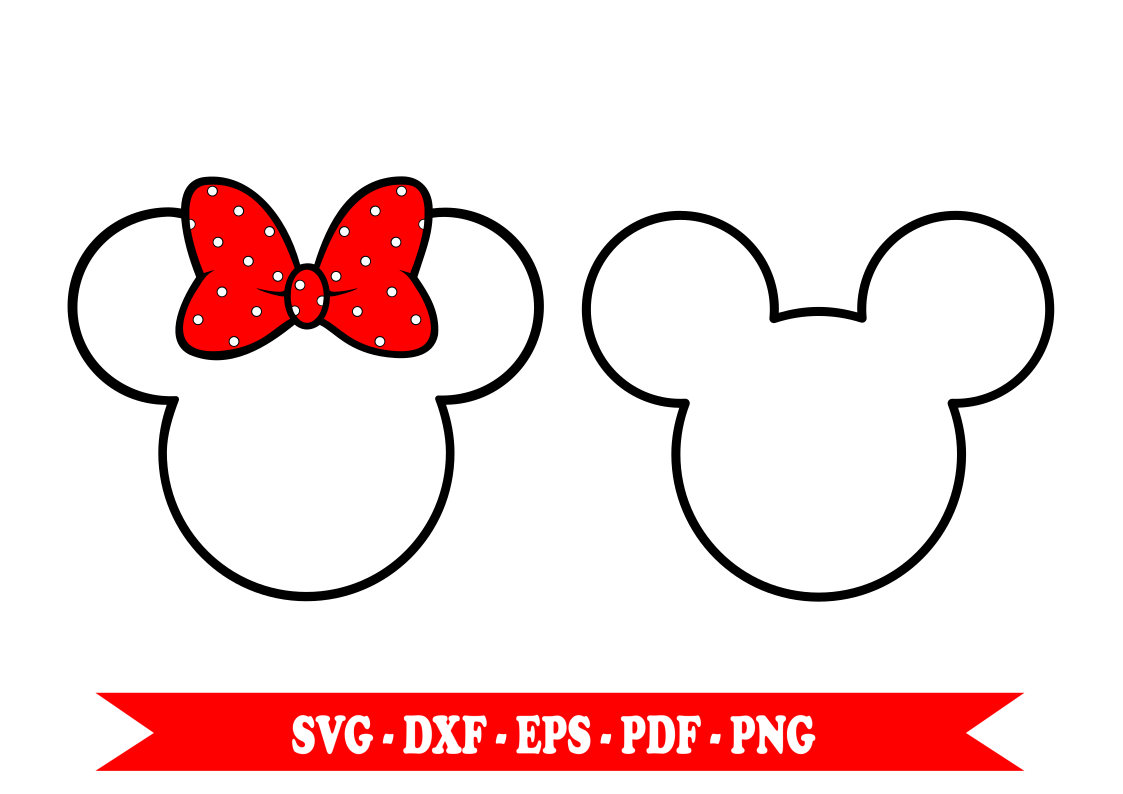 1123x794 Minnie Mouse Svg Mickey Mouse Svg Clip Art Outline In Svg