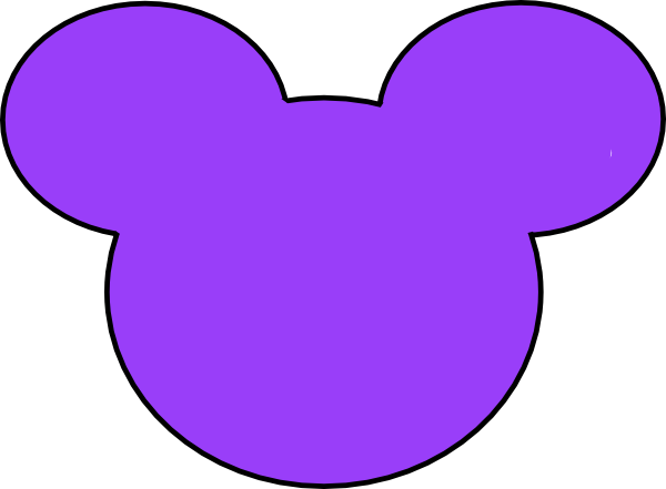 600x441 Purple Mickey Mouse Outline Clip Art