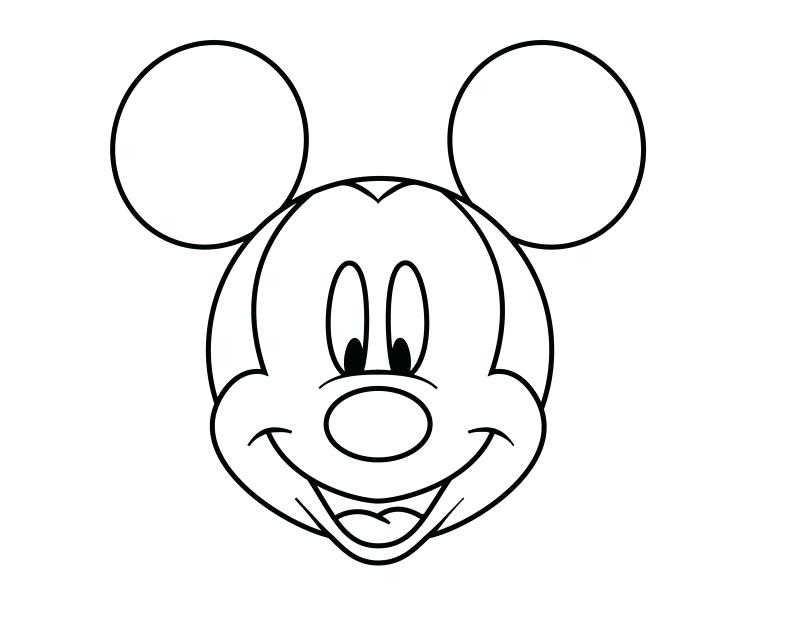 Mickey Mouse Ears Outline | Free download best Mickey Mouse Ears ...