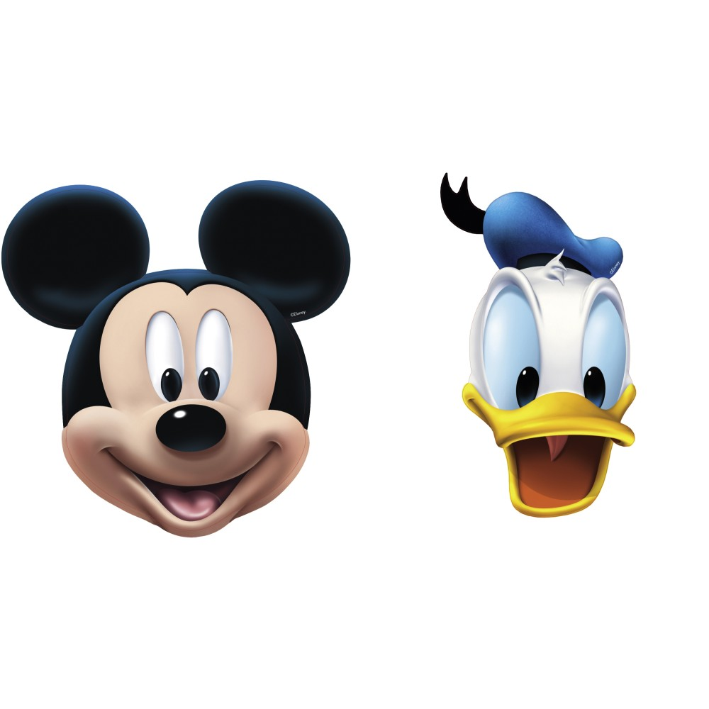 1000x1000 Mickey Mouse Amp Donald Duck Face Masks, Amscan 994161, Pack Of 4 Pieces