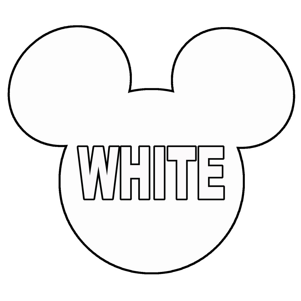 1024x1024 Mickey Mouse Head Coloring Pages Murderthestout