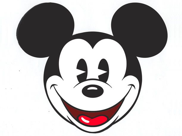 Mickey Mouse Face Clipart