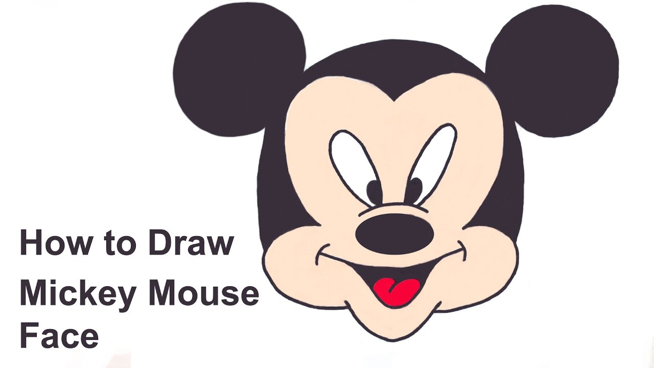 1280x720 Mickey Mouse Drawing Faces Mickey Mouse Black And White Face