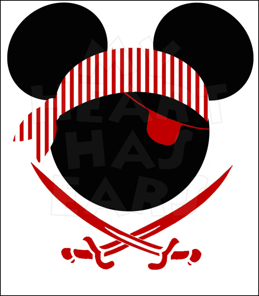 895x1024 Mickey Mouse Pirate Head Instant Download Digital Clip Art My