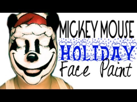 480x360 Mickey Mouse Holiday Face Paint Step By Step Tutorial