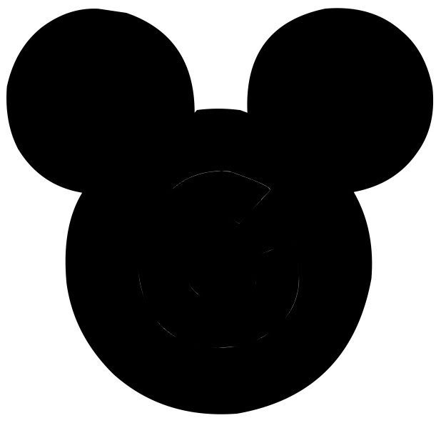 611x599 Mouse Head Black And White Clipart