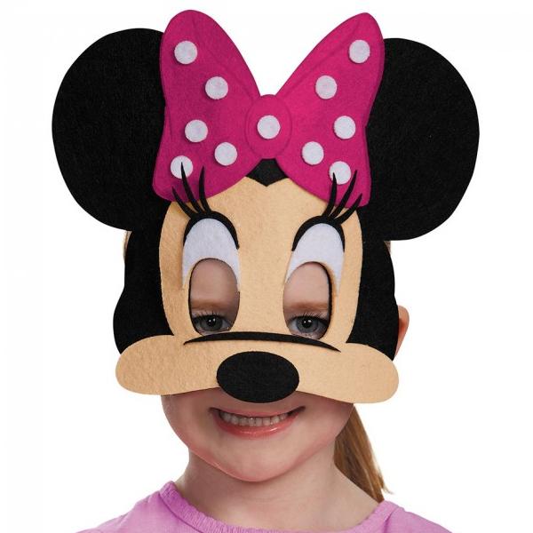 600x600 Felt Mickey And Minnie Mouse Face Masks