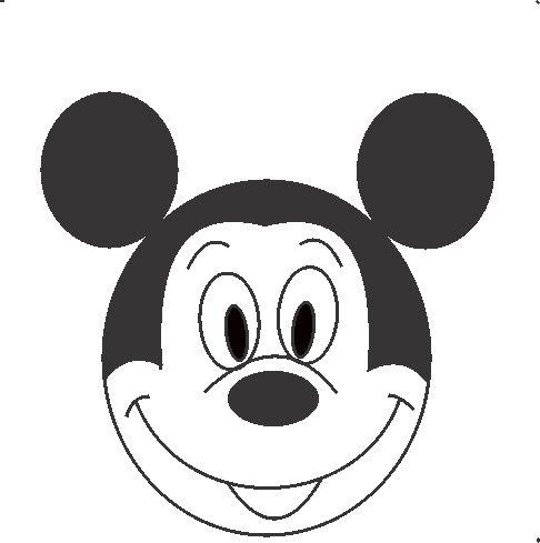 486x489 How To Draw Mickey Mouse In Some Simple Steps
