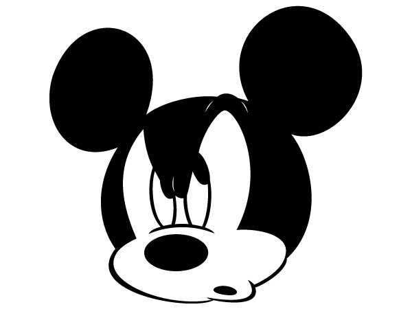 600x450 Mickey Mouse Face Clipart