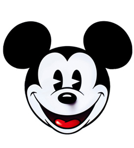 272x301 Mickey Mouse Face