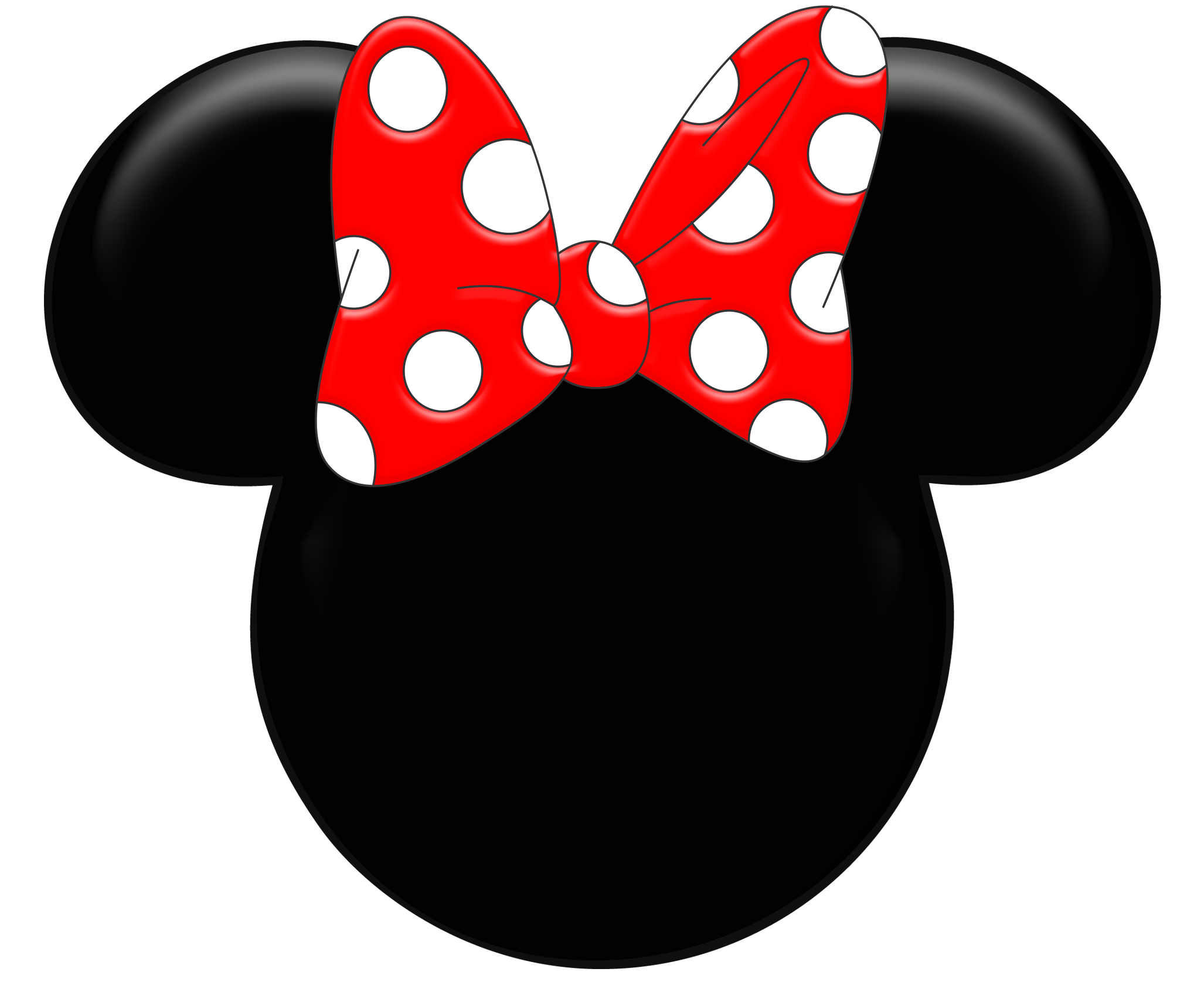 2054x1716 Sweet Minnie Mouse In Red With Tiny Polka Dots All Around