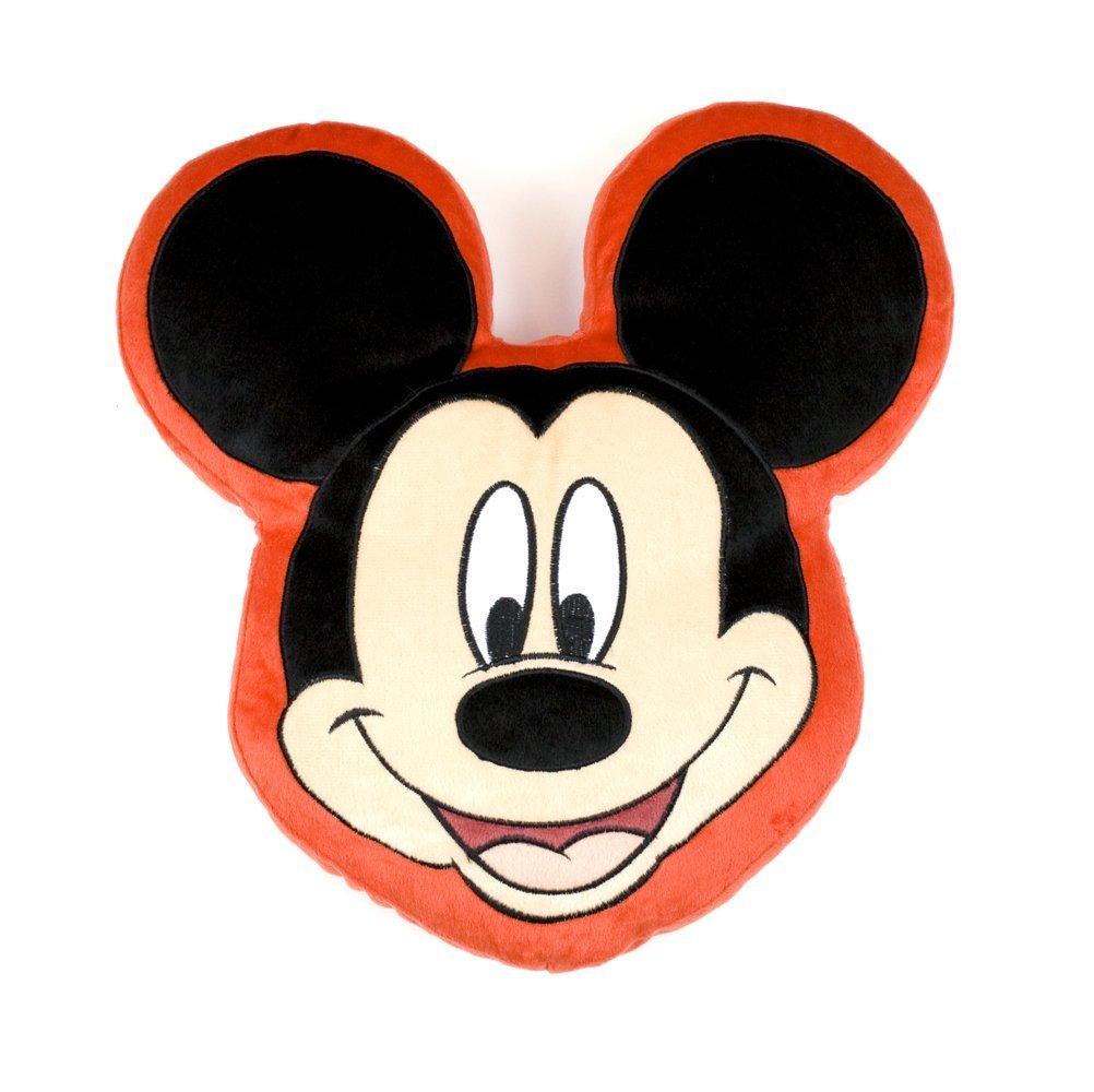 1002x1000 Character World Disney Mickey Mouse Head Shaped Plush Cushion