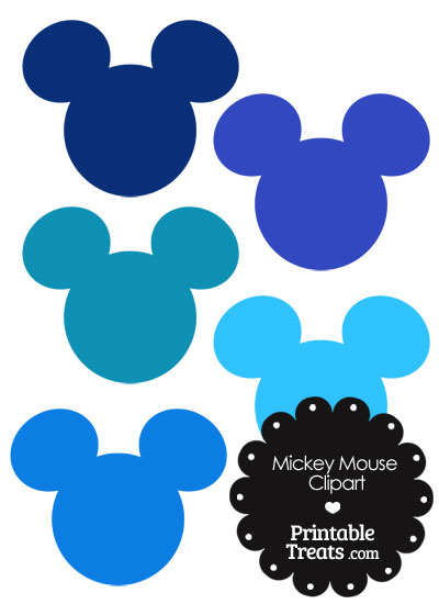 400x550 Mickey Mouse Head Clipart In Shades Of Blue Printable