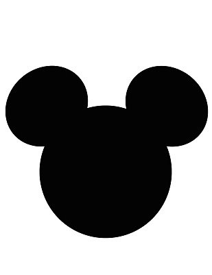 309x400 Mickey Mouse Head Shape Black Clipart Panda