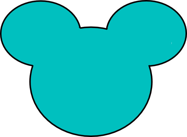 600x440 Mickey Mouse Outline Clipart