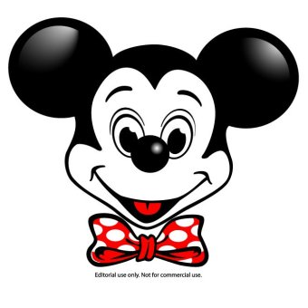 340x340 Mickey Mouse Silhouette Free Vector 123freevectors