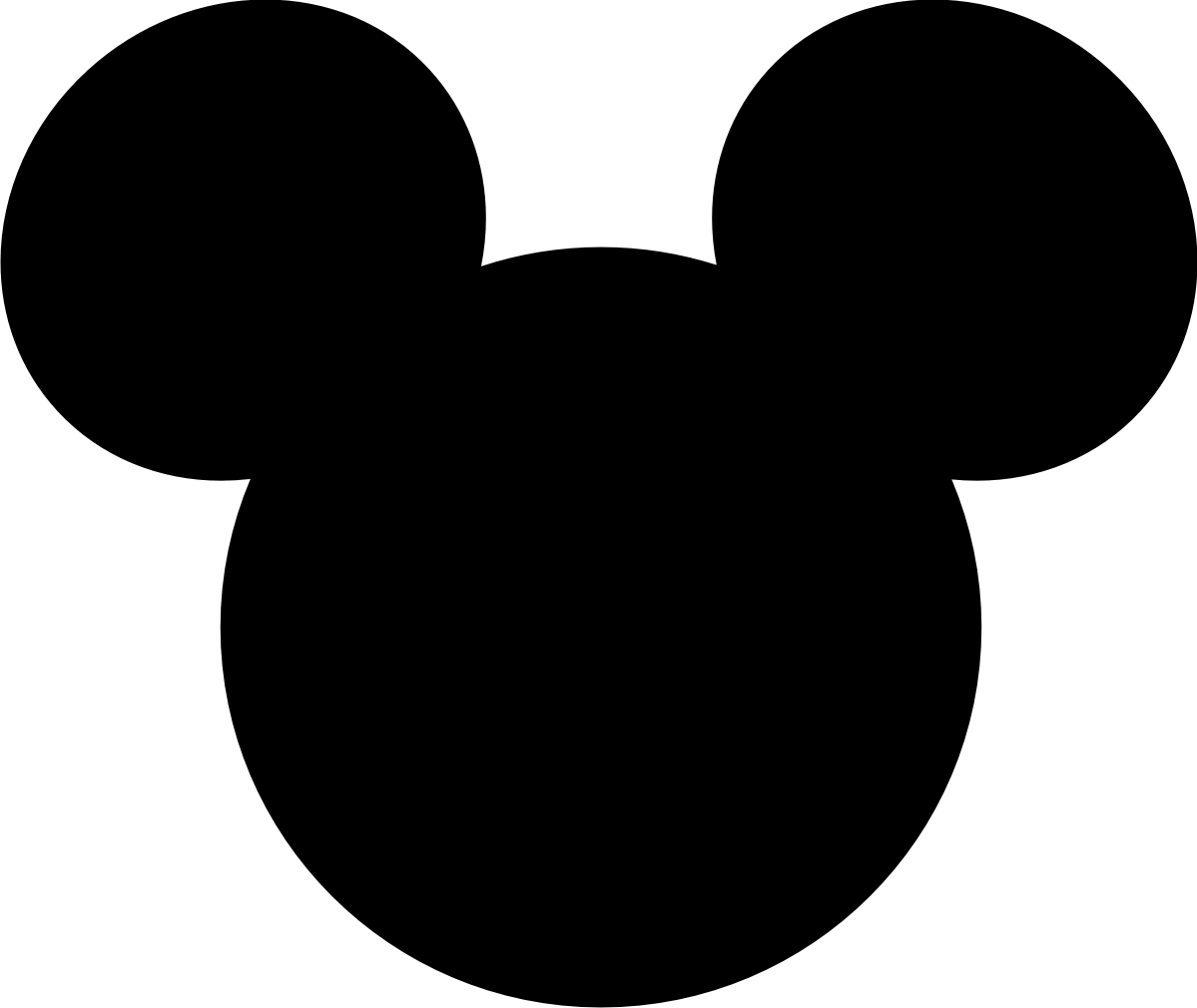 1199x1010 outline of mickey mouse head