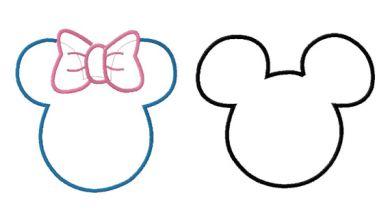 390x221 Template For Mickey Mouse Ears