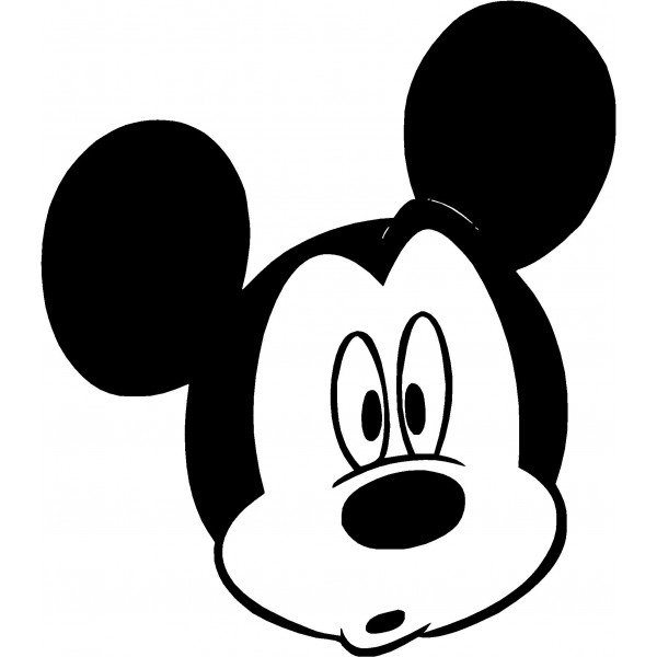 600x600 Free Mickey Mouse Clipart Black And White Image