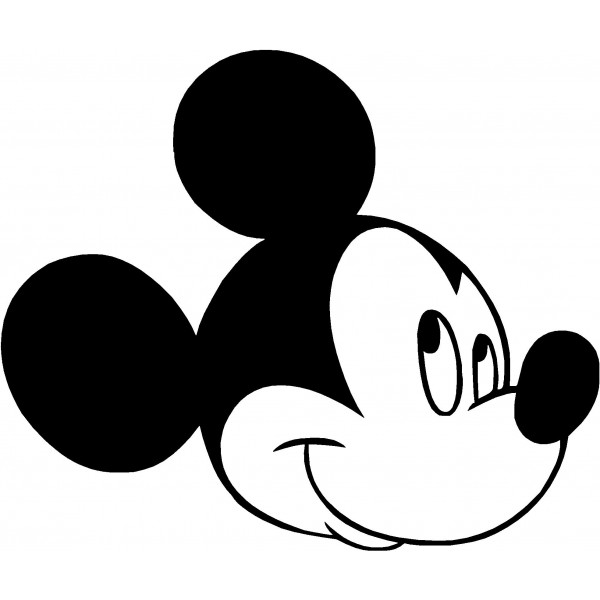 600x600 Free Mickey Mouse Clipart Black And White Image 9