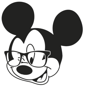 332x337 Mickey Mouse Clipart Black Head