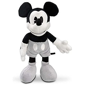 350x350 Disney Mickey Mouse Black And White Collectible Plush