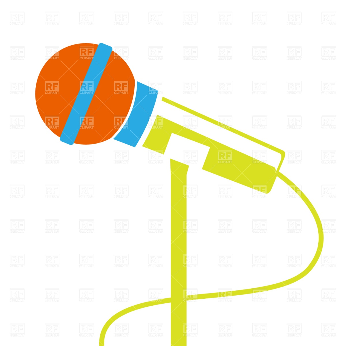 1200x1200 Microphone Clip Art Microphone Stand Download Royalty Free Vector