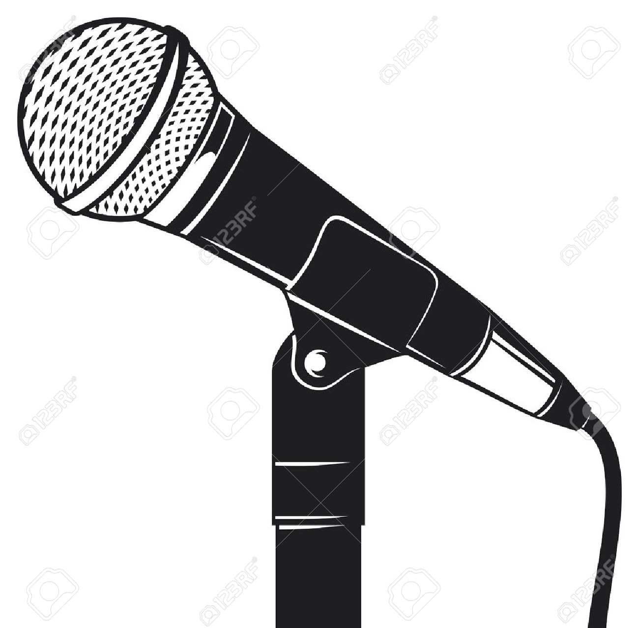1300x1277 Microphone Clipart Microphone Stand