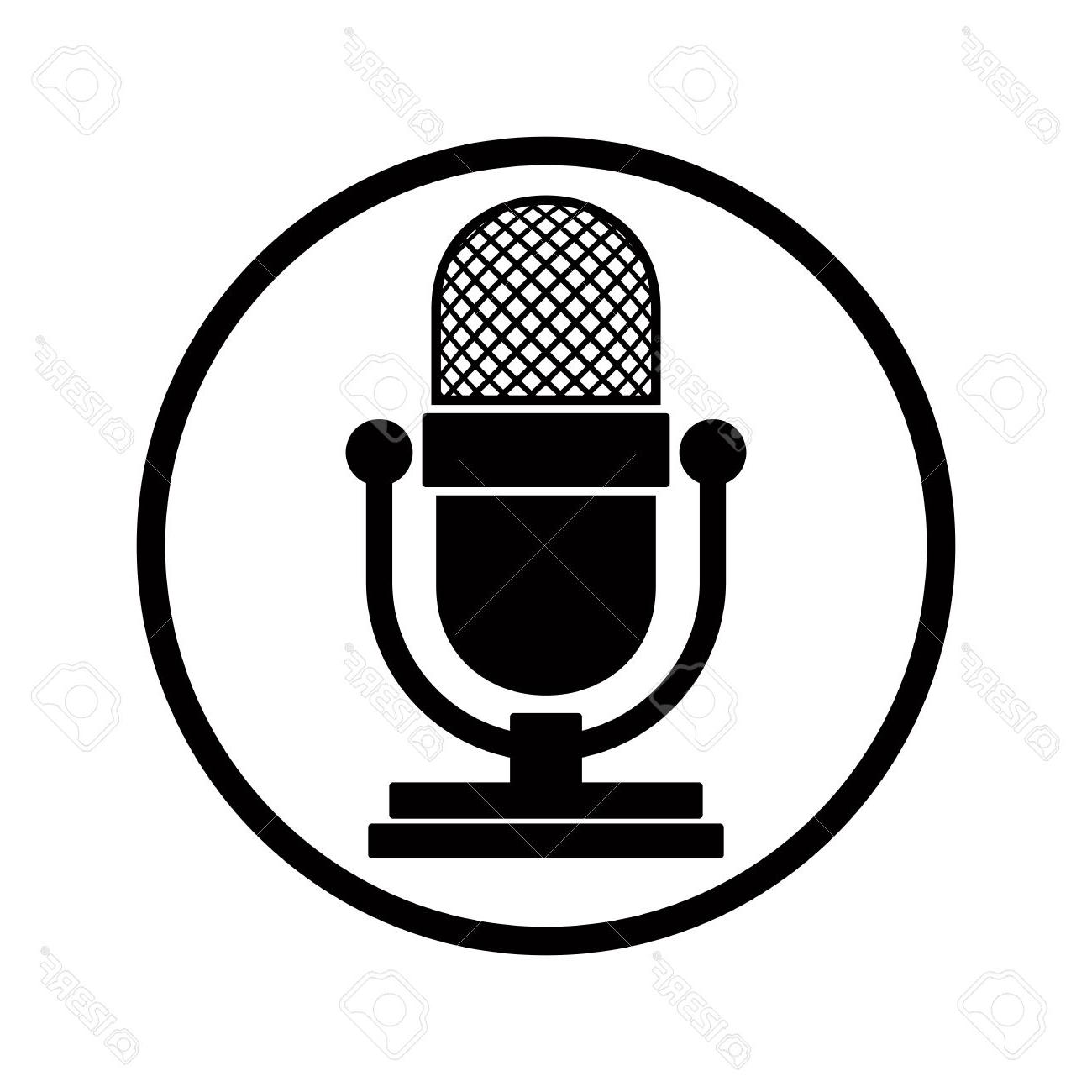 1300x1300 Best Hd Vector Microphone Icon Vector Image Free Vector Art