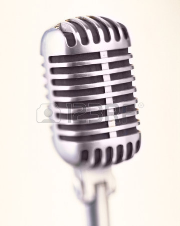 359x450 Old Fashioned Microphone,close Up Stock Photo, Picture And Royalty