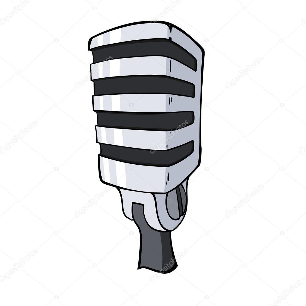 1024x1024 Old Microphone Stock Vector Kernelpanic