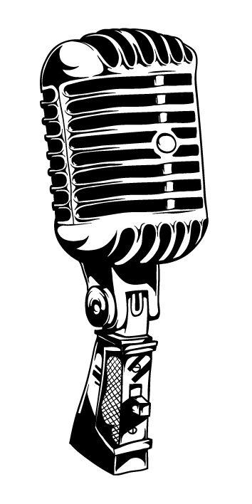 354x708 Drawn Microphone Mic