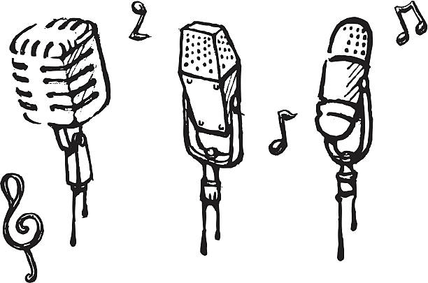 612x405 Drawn Microphone Old Fashioned