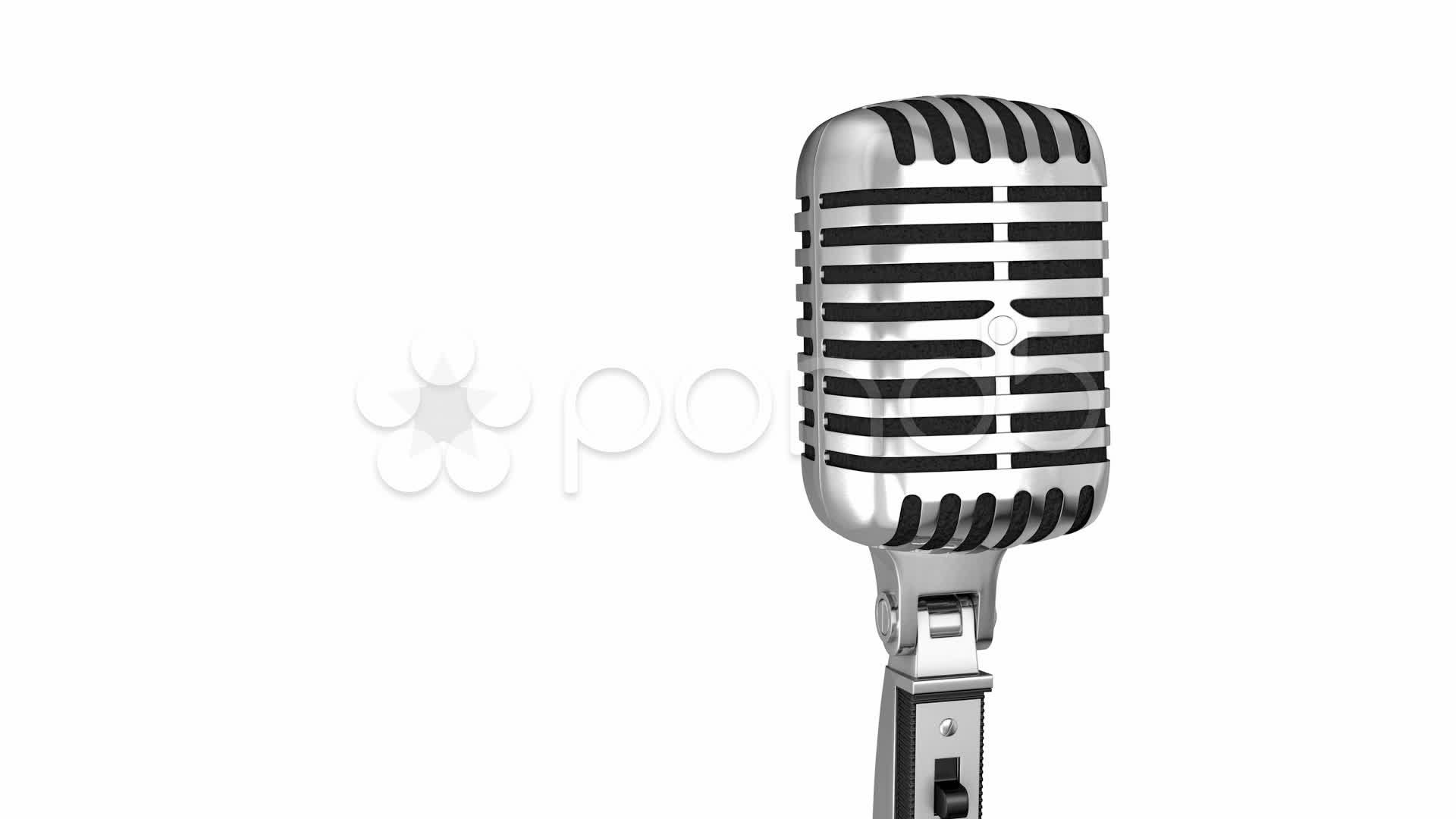 1920x1080 Classic Microphone On A Stand ~ Hi Res Video