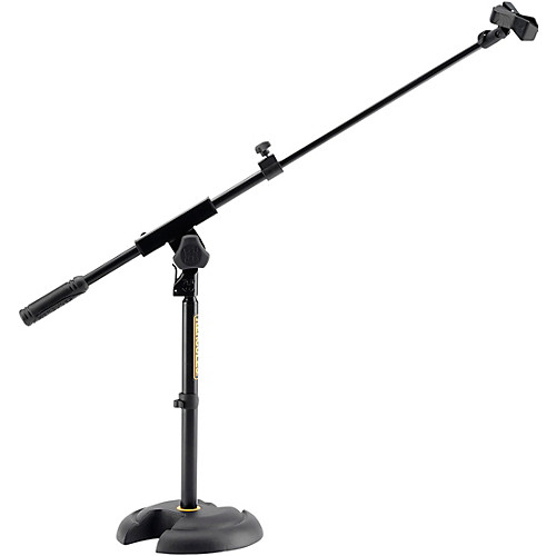 500x500 Hercules Stands Low Profile, Short Microphone Boom Stand
