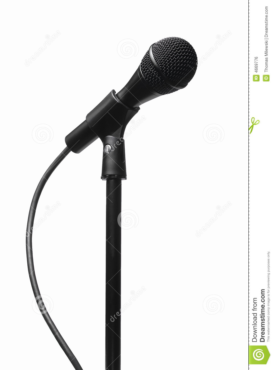 962x1300 Microphone Stand Clipart