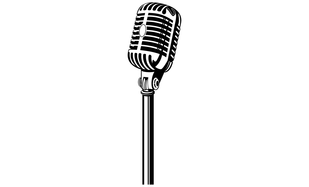 Microphone old fashioned. Stand clipart free download