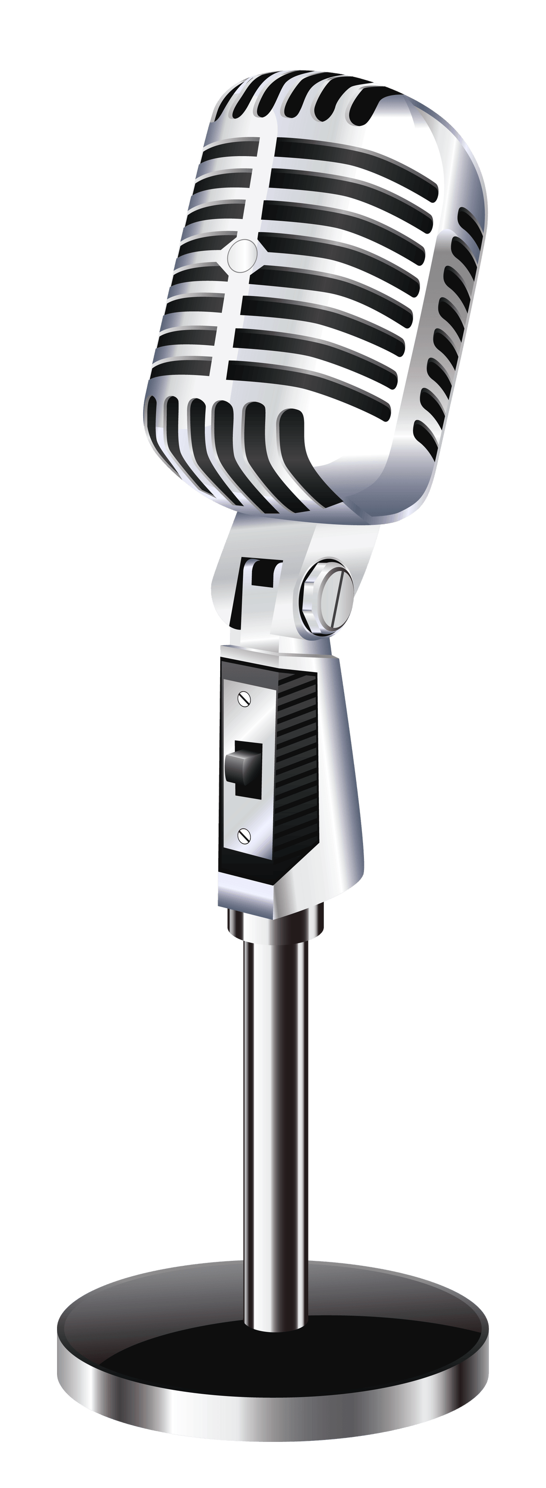 1101x3000 Microphone Clipart Vintage Microphone