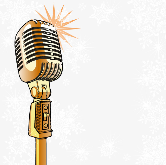 650x648 Gold Shining Microphone Vector, Microphone, Golden Png And Vector
