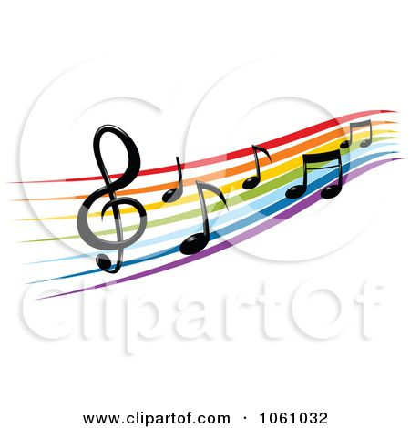 Microphone With Music Notes Clipart