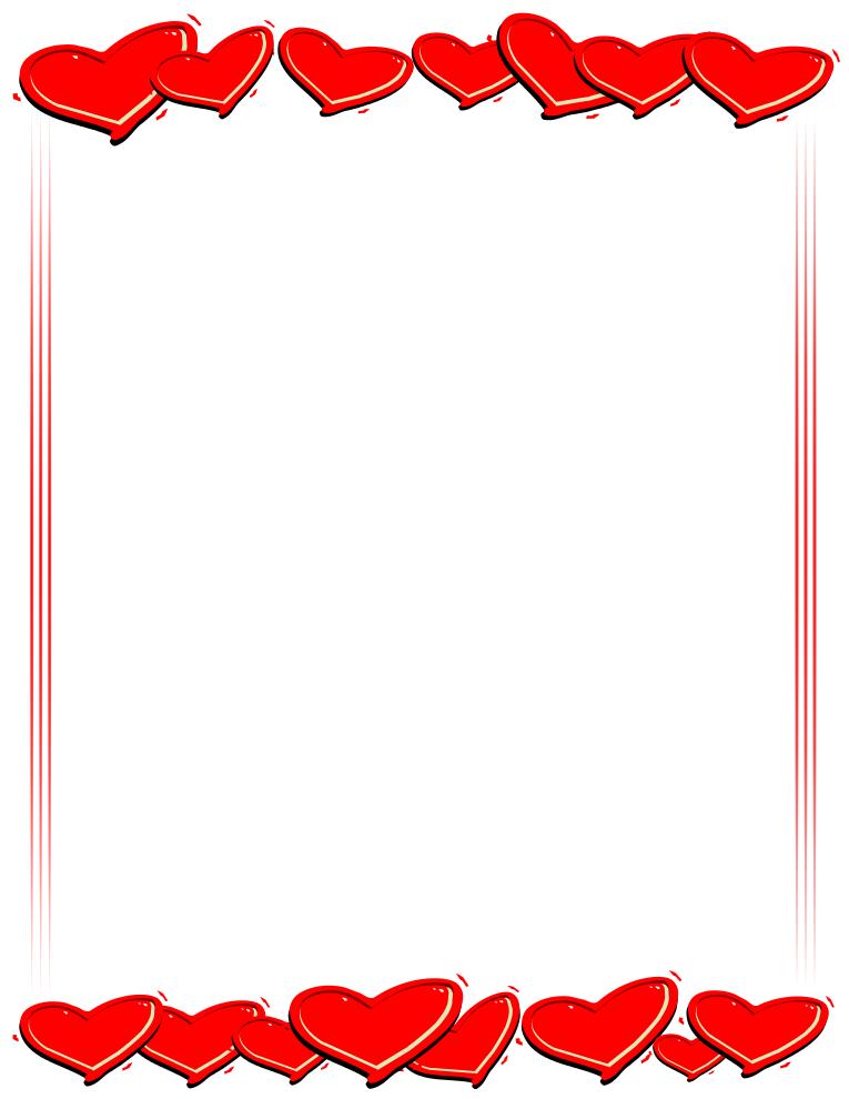 765x990 Hearts Border Clipart