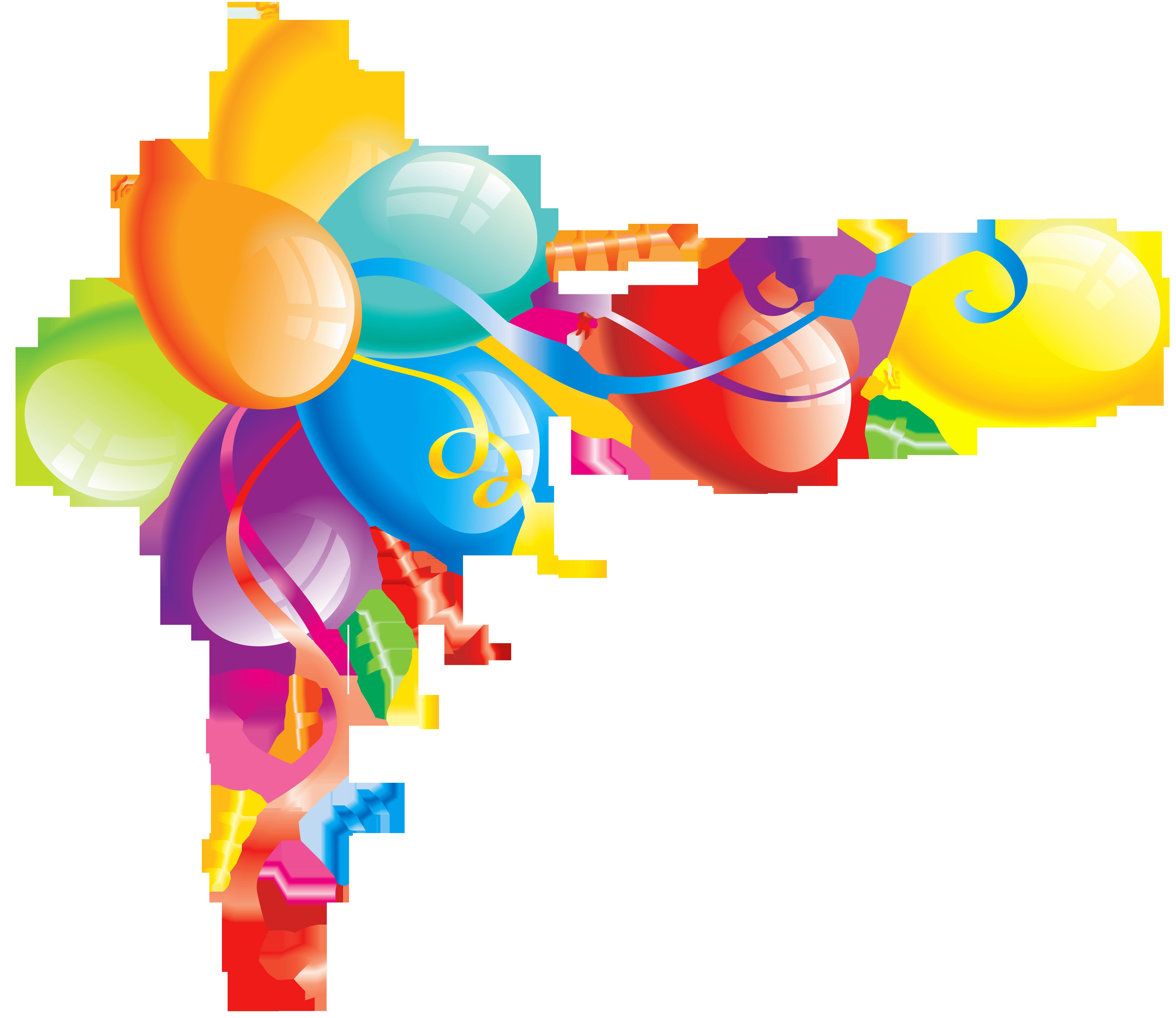 6200x5367 Balloons Clip Art Free